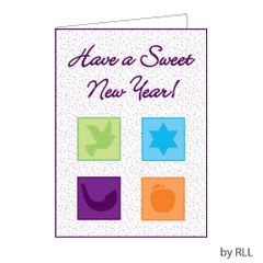 JEWISH NEW YEAR PACKAGE CARD - Pack of 8