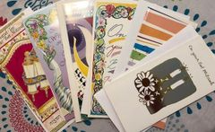 Wallet Cards Assorted Designs - Package of 6 Cards