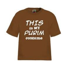 """This Is My Purim Costume"" T-Shirt, Available In Black w/White Lettering"