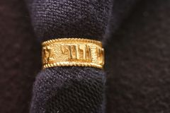 Wedding Ring Gold Plated w/ Hebrew Vows - assorted designs