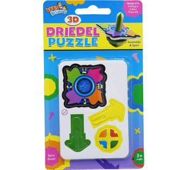 3D Dreidel Puzzle - Build it Yourself - Assemble and Spin - Hanukah Toys, Games and Gifts by Izzy 'n' Dizzy