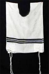 Talit Katan Black Stripes 100% Wool