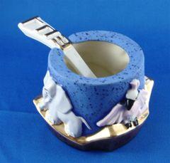 Honey Dish Noah's Ark Design With Spoon, Ceramic Size: 3 In Diam X 2.25 In Ht