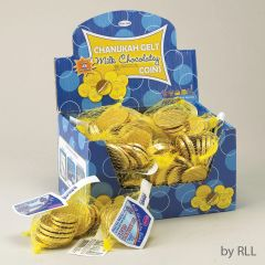 Chanukah Gelt Milk Chocolate Coins - Box of 48 bags