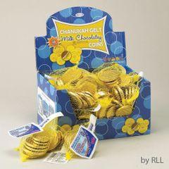 Chanukah Gelt Milk Chocolate Coins - Box of 48 bags
