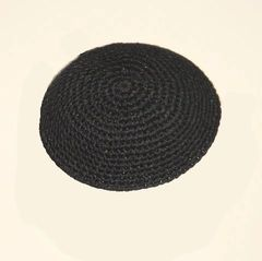Kippah Crochet Black Thick Stitch