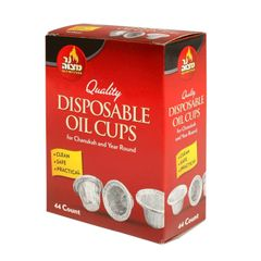 Disposable Foil Menorah Drip Cups Liners Inserts for Oil and Candles