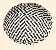 Kippah Suede Black/White