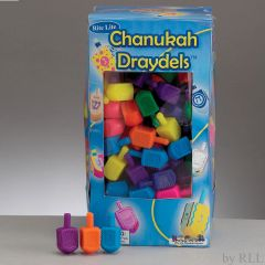 Small Plastic Chanukah Dreidels - Assorted Colors