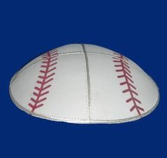 Kippah Leather Baseball Design