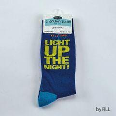 "Chanukah Adult Crew Socks, ""Light Up The Night"""