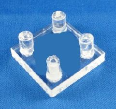 Dreidel Stand Square Lucite 1-1/4 Inches X 1-1/4 Inches