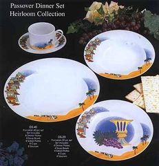 Passover Dinner Set For 4 (20 pieces) or 8 (40 pieces) - Dinner/Soup/Salad/Cups And Saucers - Beautiful Set