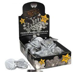 Chocolate Gelt NUT FREE (Dark) Pareve - 24 Bags - 120 Coins