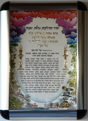 Shabbat Blessing in Hebrew - Metal Frame