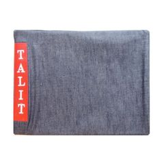 Talit Bag Denim W/English Corner Jeans Red Label 13.5 Inches X 10.5 Inches And Other Designs Available