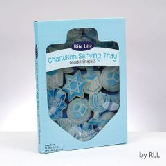 "Dreidel Shaped ""Chanukah Cookies"" Glass Serving Tray"