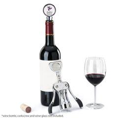 """Deluxe Wine Topper, Shabbat Shalom, 4"""""""
