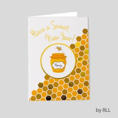 JEWISH NEW YEAR PACKAGE CARD - Packs of 8