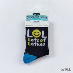 Chanukah Kids Crew Socks, Lots Of Latkes