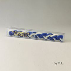 Beeswax Havdalah Candle - Flat, Blue & White