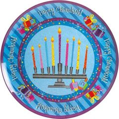 "Chanukah Melamine ""Chanukah Sparkle"" Large Tray Round 12"""