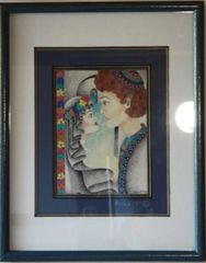 The Marriage / Couple Matted and Framed by Miriam Novack