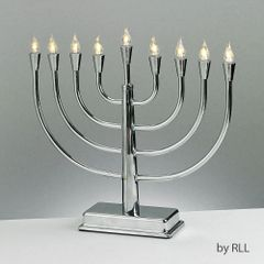 LED Low Voltage Solid Metal Electric Menorah