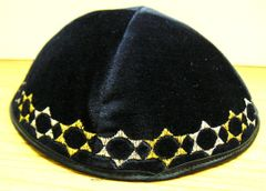 Kippah Satin Star Emb. assorted