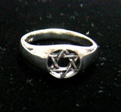 Sterling Silver Star of David Ring Size 6.5 and 8.5 available