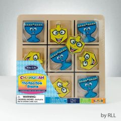 Chanukah Wood Tic Tac Toe Game-deluxe style