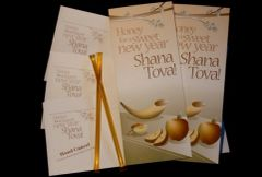 Gift Card For Rosh Hashanah, Packs (Includes 12 Honey In A Straw And Envelope) - Single Cards (Includes Card and Envelope)