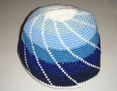 """Kippah Frik Large Assorted colors 10"""" Diameter, Made In Israel"""