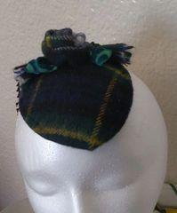 Gordon Plaid Fasinator Hat, Victorian Inspired, Steampunk