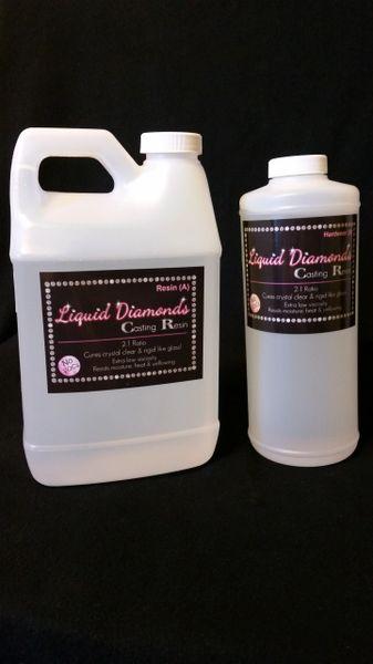 Liquid Diamonds casting epoxy resin - 96 oz kit