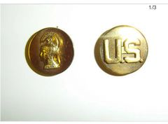 Womens Army Corp (WAC) Brass insignia set