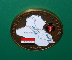 Military Challenge coin #3 OIF Forces om the Ground