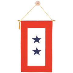 Armed Service Window Banner - 2 Star
