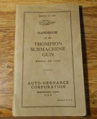 Basic Field Manual for Thompson M1928 Dated 1940
