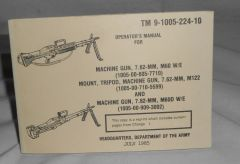 M60 Machinegun operators manual