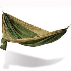 Hammaka Parachute Silk Hammock Army Green/Brown