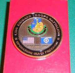 Military Challenge coin #2 1st BTB, 34th ID CSM Coin