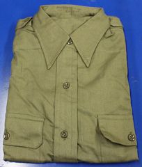 Vintage 1953 Korea Era Olive Green GI Shirt
