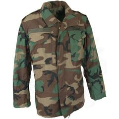 Used Woodland Camouflage, BDU M-65 Field Jacket