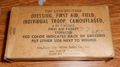 Vintage First Aid Dressing - Free Shipping!