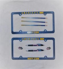Navy Licence plate frames!