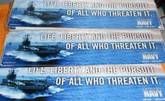 U.S.N Life, Liberty and the pursuit of all who threaten it Decal Bumper sticker
