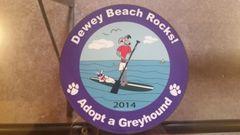 2014 Dewey Beach Rocks Car Magnet