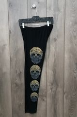 11799PL - Black Legging w/ Skull Design