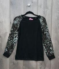 LEP001 - Black & Leopard Long Sleeve
